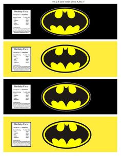 Batman Superhero water bottle label by on Etsy Lego Batman Birthday, Batman Party, Superhero Party, Batman Superhero, Batman Mask, Printable Sticker Paper, Batman Y Robin, Ninja Party, 6th Birthday Parties