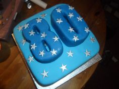 80th Birthday Cake Blue And Silver Stars Photo:  This Photo was uploaded by scaryfairyk8. Find other 80th Birthday Cake Blue And Silver Stars pictures an...