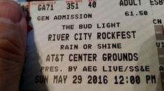 #concert ticket arrived for #rivercityrockfest in #sanantonio #texas #disturbed #sixxam #megadeth #hellyeah #avatar #popevil #heavymetal #rockmusic