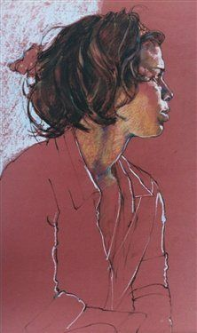 Don't Finish That Drawing It's Perfect Right Now. Erin by Eileen Healy, pastel drawing.