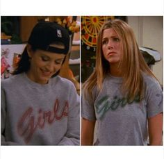 shirt grey girl friends TV show friends tv show jennifer aniston courtney cox monica geller rachel green