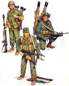 """• Recon-para, SAYERET TZANHANIM; Suez, Oct. 1973 • Paratrooper, Op. 'Litani'; Lebanon, March 1978 • Paratrooper, 890th Bde.; Lebanon, 1980"", Ronald Volstad"