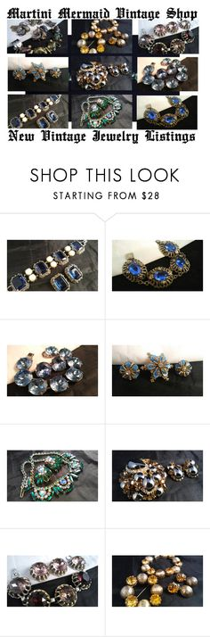 """""""New Vintage Jewelry Listings..."""" by martinimermaid ❤ liked on Polyvore featuring vintage"""