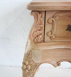Heavily Carved Baroque Bedside / Baroque Bedside Cabinet 1 Drawer / Dutch Connection