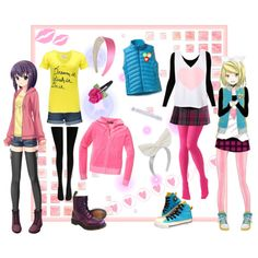 anime clothing | Anime girls - cute outfits - Polyvore