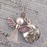 Mini Memorial Angel Photo Necklace Kit