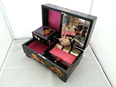 Vintage Japan Jewelry/Music Box - Male and Female Dancers $52 + $17/$65 shipping