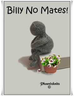 Billy no mates. A funny little chap sure to be a topic of conversation and curiosity PDF Pattern ONLY by Phoenixknits on Etsy