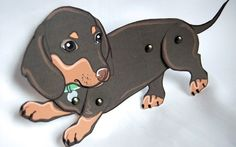 Doxie paper doll!