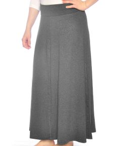 884e5a4296 Kosher Casual Womens Modest Long Flowing Maxi Skirt Dark Charcoal Grey     Find out more about the great product at the image link.