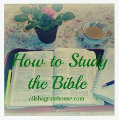 How to Study the Bible. It's kind of funny that I ran across this, because I was needing some help in actually starting to study it instead of just reading it!