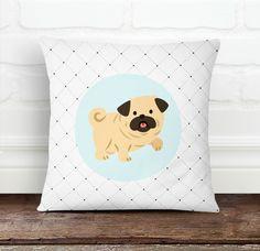 Pug Dog Pillow Cover from Decorart Design by DaWanda.com