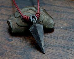 Arrowhead Necklace a hand forged Viking arrowhead made by Taitaya