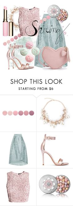 """""""Spring make me shine!"""" by lullulu ❤ liked on Polyvore featuring Deborah Lippmann, Coast, Gianvito Rossi, Guerlain and Clarins"""
