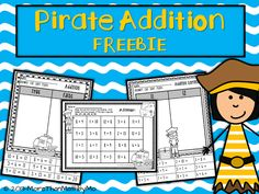 More Than Math by Mo: Free pirate math printables-addition (sums 11-20)