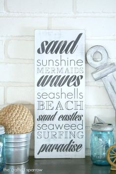 Beach Home Sign