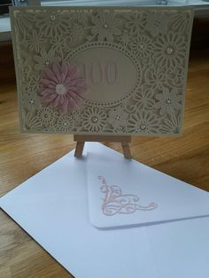 Beautiful handmade personalised cards made from premium quality card. The design can be tailored to suit you for example you could have happy mum and your chosen colour. All my cards xome cellophane wrapped for protection. 100th Birthday Card, 50th, Etsy Shop, Auntie, Handmade Gifts, Happy, Table, Check, Furniture