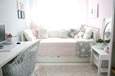 My little white Home: Pastelowy pokój nastolatki Teen Girl Rooms, Teenage Room, Girls Bedroom, Bedroom Decor, Cama Ikea, Hemnes, White Houses, Dream Rooms, New Room