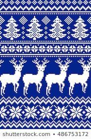 New Year's Christmas pattern pixel Diy Embroidery, Cross Stitch Embroidery, Cross Stitch Patterns, Beginner Knitting Patterns, Knitting For Kids, Crochet Chart, Crochet Patterns, Christmas Charts, Brother Knitting Machine