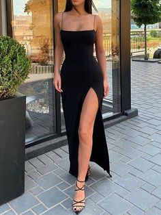 Mermaid Low-cut Spaghetti Straps Open Back Black Satin Long Prom Dresses with High Split CR 2900 Mermaid Low-cut Spaghetti Straps Open Back Black Satin Long Prom Dresses with High Split CR Related posts:Mode. Cute Prom Dresses, Prom Outfits, Pretty Dresses, Girls Dresses, Sexy Dresses, Summer Dresses, Wedding Dresses, Casual Dresses, Sparkly Dresses