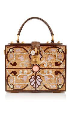 e3401361abdd Plexi Intricate Cut Out Box Bag by DOLCE   GABBANA Now Available on Moda  Operandi Beige