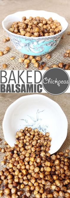 "Chickpeas are crazy versatile and so is my ""world famous"" baked chickpeas recipe. Eat them warm out of the oven, as a cold snack, with salad, pasta or rice! Chickpea Recipes, Vegetarian Recipes Easy, Dog Food Recipes, Skinny Recipes, Sandwich Recipes, Snack Recipes, Healthy Recipes, Healthy Snack Options"