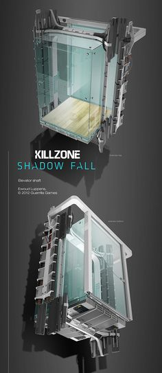 Concept art for Killzone Shadow Fall, a playstation 4 launch title developed by Guerilla Games.