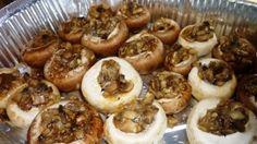 Stuffed mushrooms  פטריות ממולאות - הגרסה הפרווה-
