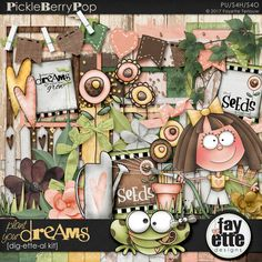 Plant Your Dreams Dig-ette-al Kit By Fayette Designs