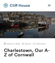For C we have chosen Charlestown, a small village and port on the South Coast of Cornwall. It's located just outside of St Austell and for those that don't know St Austell is where we kicked off our A- Z of Cornwall, so be sure to check out that post too!⁣ ⁣ Charlestown is famous for its Georgian working port and is a very popular filming destination for many series and films. Eagle eyed viewers may have seen it in Alice in Wonderland, Doctor Who and even Pirates of the Caribbean. ⁣ ⁣ There… Cliff House, Eagle Eye, Pirates Of The Caribbean, See It, Georgian, Cornwall, Doctor Who, Alice In Wonderland, The Outsiders