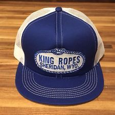 King Ropes blue and white mesh trucke... Western Style f0695fb361a1