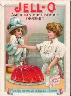 Vintage Jello Jell-o Cookbook, Rose O'Neill Art, 4 Color Illustrations Vintage Labels, Vintage Ephemera, Vintage Cards, Vintage Signs, Vintage Postcards, Vintage Food, Old Advertisements, Retro Advertising, Retro Ads