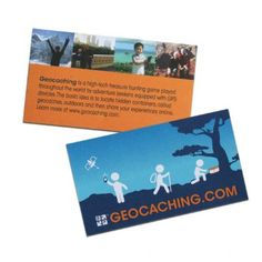 Geocaching trail cards