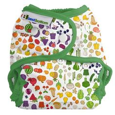 Bigger Best Bottom Cloth Diaper Cover - Farmer's Market Print The Bigger Best Bottom diaper shell is designed to fit babies lbs. With added special leg gussets to help keep everything in, adjustable rise with four settings, and overlapping snap closure. Cloth Diaper Covers, Cloth Diapers, Couches Jetables, Diapers Online, Alternative To Plastic Bags, Oil Shop, Baby Up, Coton Bio, Farmers Market
