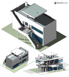 Maison dite Vrinat, Pessac | Le Corbusier | Archweb 3D