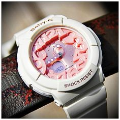 Playful pink Baby-G watch—perfect for back to school! Not a watch wearer, but this is SUPER cute! Baby G Shock, G Watch, Watch Gears, Casio, Fashion Watches, Back To School, Luxury, Bga, Sobriety