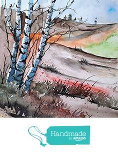 ORIGINAL painting watercolor painting original WATERCOLOR Birch Tree Art from Maine ARTist http://www.amazon.com/dp/B017AM5PI2/ref=hnd_sw_r_pi_dp_qBDuwb0W72QRF #handmadeatamazon