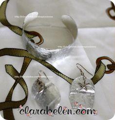 Diy jewellery made from plastic and aluminium foil