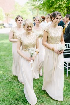 Bridesmaids' Dresses: ASOS - German Barn Wedding by Carmen and Ingo Photography - via ruffled