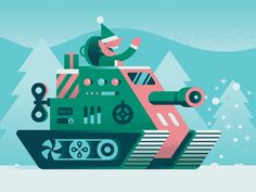 Toy Tank by Trey Ingram #Design Popular #Dribbble #shots