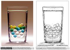 Glass by Yukio Miyamoto Gradient Mesh, Illustrator Tutorials, Illustration Art, Illustrations, Vector Art, Glass Vase, Objects, Graphic Design, Artworks