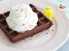 Gofres brownie de chocolate