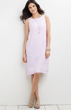 yarn-dyed linen boat-neck dress from J.Jill