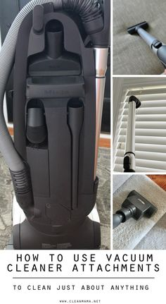 Wondering just what and how to use all those vacuum cleaner attachments for?
