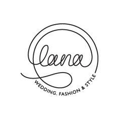 LOGO Design by Curly Black - design & concept Studio -  UX | UI | Branding | Packaging Design עיצוב חווית משתמש | מיתוג ועיצוב אריזות | עיצוב אריזות | עיצוב לוגו | תדמית - Logo Design for Lana - Wedding, Fashion & Style Studio | עיצוב לוגו ללנה, שמלות כלה, אופנה וסטיילינג סטודיו