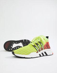 huge discount fa409 25d14 adidas Originals EQT Support Mid ADV Sneakers In Green B37436
