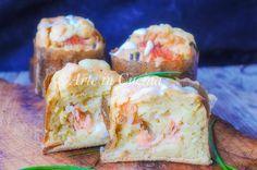 Panettoncini salati ripieni con salmone e ricotta, ricetta facile, veloce, senza robot, antipasto sfizioso, feste natalizie, ricetta per la viglia, menu a base di pesce