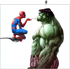 Spidey, that was not the best move you could have made.  Don't you know that Hulk smash?
