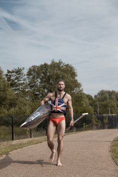 """famousmaleexposed:  """" British former canoeing Matthew James Lister  Big Bulge!  Follow me for more Naked Male Celebs!  http://famousmaleexposed.tumblr.com/ """"  The Hottest Sportsmen on the web!  Follow Sporty Boy at http://sportyboyblog.tumblr.com/!"""