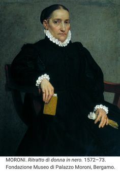 1572 Giovanni Batista Moroni - Portrait of an Old Woman with a Book